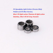 Total Bearings Kit Fit Speedplay Light Action Chrome-molyandx5 Blue Version Pedals