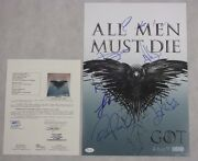 Game Of Thrones 7 X Cast Signed 12and039x18and039 Photo + Jsa Coa Buy 100 Genuine