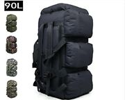 90l Large Big Tactical Army Military Gear Duffle Carry Bag Rucksack Travel Camo
