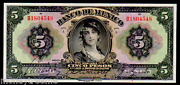 """Mexico P21h 5 Pesos """"large Size"""" 1925 Series """"ultra Gem"""" Graded"""