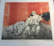 1928 Louis Icart Mockery French Etching Aquatint Hand Coloring On Wove Paper