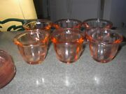 Beautiful Pink Custard Cups Depression Glass With Saucer/ Hard To Find