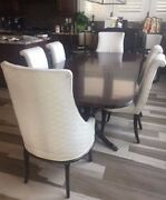 Duncan Phyfe Dining Table With 6 Chairs