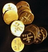 2 1 Gram Bar Usa Bullion 1g 22k Placer Gold Rounds From Mine X Lot 137 Anarchy