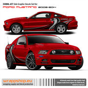 Cobra Jet Side Graphic Decals Metallic Set For Ford Mustang 2005 - 2014