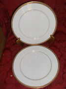 2 Mikasa Olympus 8386 Fine China 10.25 Dinner Plates.....excellent Condition