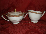 Mikasa Olympus 8386 Fine China Sugar Bowl With Lid And Creamer....excellent