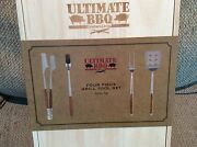 New Southern Living Ultimate Bbq Barbecue Grill Tool Set 4 Pieces