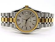 Men's Tudor Monarch 15633 18k Yellow Gold And Stainless Quartz Silver Dial Watch
