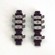 Pair Of Bbt Heavy Duty 4 Gang 30 Amp Terminal Strips For Spade Type Connectors