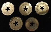 United Electric Railways Co. Good For One Fare Token Coin Transit Lot Of 5