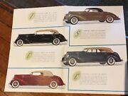 1937 Lincoln Brochure/poster