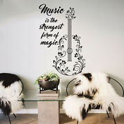 Guitar Wall Decals Quotes Decal Vinyl Stickers Music Decal Bedroom Decor Mn993