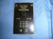 Signal Corps Radio Transmitter Bc-653-a Front Ipa Coils Panel Door / A5