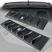 For 2008-2016 Mitsubishi Lancer Evo X Carbon Style Shark Rear Roof Spoiler Wing
