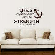 Anchor Wall Decal Quotes Nautical Sayings Wall Vinyl Sticker Bedroom Decor Zx142