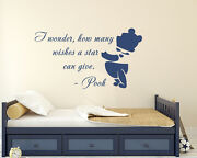 Wall Decals How Many Wishes A Star Can Give Quote Decal Home Decor Nursery Aa227