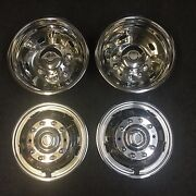 Set Of 19.5 Stainless Dually Wheel Simulators For 05-20 Ford F450 F550 10 Lug