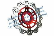 Fit Yamaha Fz6 Naked - Non-abs/2 Pis 0407 Ebc Vr Brake Disc Red Hub Front Right