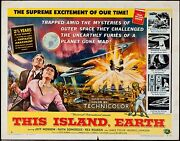 This Island Earth 1955 Half Sheet Style A Folded Graded 6 By Mp Grading Vg+