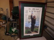 Arnold Palmer King Bids Farewell Signed By Orig. Artist And Arnold Palmer