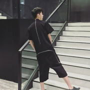 Fashion Mens Summer Casual Loose Cotton Rompers Short Overalls Pants Jumpsuits