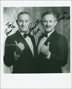 The Smothers Brothers - Inscribed Photograph Signed With Co-signers