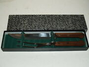 Vintage Mid Century Barlow Barbecue Steak Serving Knife And Fork-stainless Japan