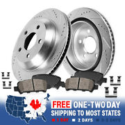 Rear Drill And Slot Brake Rotors And Ceramic Pads For S-type Xf Xk Xj8