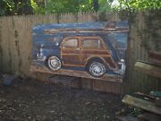 8and039 Large Country Squire Woody Wagon Surfboard Buggy Beach House Cafe Painting