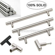 100 Solid Stainless Steel Hardware Cabinet Door Handle Drawer Pull Knobs Andempty1/2
