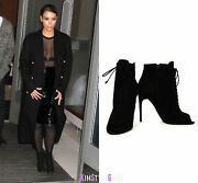 Tom Ford Open Toe Leather Booties Sz 37.5 = Us 7 - 7.5 - Pre-owned