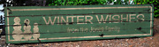 Personalized Winter Wishes Snowman Christmas - Distressed Wooden Sign