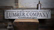 Lumber Company Lumber Company Gift - Rustic Distressed Wood Sign