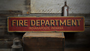 Fire Department City State Custom Fire -rustic Distressed Wood Sign