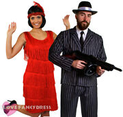 Couples Gangster And Flapper Costumes 1920's Fancy Dress The Great Gatsby Party