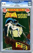 Brave And The Bold 105 Cgc 9.4 Nm White Pages 1-2/73 Wonder Woman