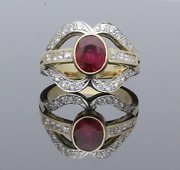 Ruby Kiss Ring With Princess And Brilliant Cut Diamonds