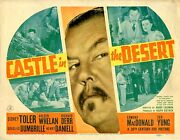 Castle In The Desert 1941 8 Lobby Card Set Fine 16 And 7 Are F With 6 Having Some