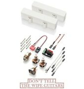 Emg J Set White Active Pickups For Jazz Bass Pots And Wiring Ceramic Magnets