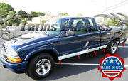 1994-2003 Chevy S-10 Extended Cab 3dr Rocker Panel Trim Side Molding 5 1/4 11pc