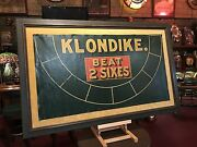 1920and039s Casino Gaming Klondike Oil Cloth Framed Layout Watch Video