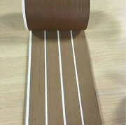 12.5 Meter Roll Marine Yacht Synthetic Teak Deck 1905mm With White Caulking