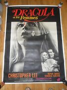 Dracula Has Risen From The Grave Orig 1969 French 63x47 Oversized Poster Vampire