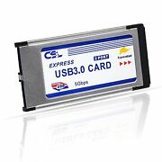 Csl - Usb 3.0 Super Speed Pcmcia Express Card 34mm / 2 Port / Compatible With 7