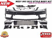 Mb 2007-13 W221 S-class S65 S63 Amg Style Front Bumper Cover Drl S550 S600 Pdc