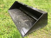 New Heavy Duty 84 Skid Steer Bucket For Bobcat Case Cat John Deere And More-7and039