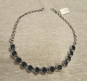 Lia Sophia Necklace Display Only - Silver, Choker, Blue, Infinity Collection