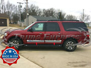 2007-2017 Ford Expedition El Rocker Panel Trim Cover Stainless Steel 4pc 6