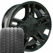 20x9 Black 3410 Wheels And Goodyear Tires Set Fit Ford F150 Harley Style Rims